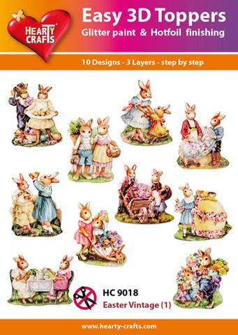 Hearty Crafts stanssatut 3d-kuvat Easter Vintage