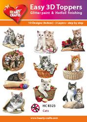 Hearty Crafts stanssatut 3d-kuvat Cats