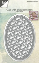 Joy Crafts stanssit Oval with small leaf pattern 6002/1073
