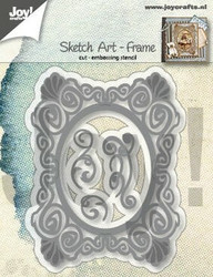 Joy Crafts stanssit Sketch Art - Frame 6002/1292