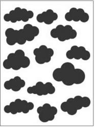 Kohokuviointitasku pilvet Dixi Craft a6