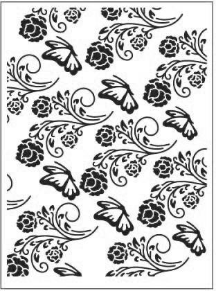 Kohokuviointitasku Butterfly Garden Dixi Craft a6
