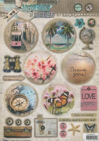 Stanssatut korttikuvat Memory of Summer Studiolight easyms619