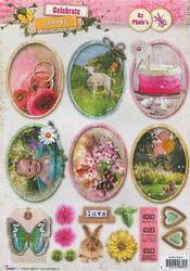 Stanssatut korttikuvat Celebrate Spring Studiolight easycs557