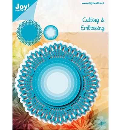 Joy Crafts stanssit Blue lace border circle 6002/1141