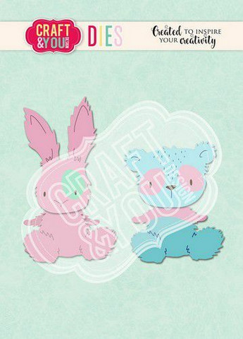 CRAFT & YOU stanssit Teddy Bear & Rabbit 2 CW112