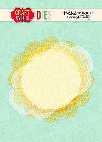CRAFT & YOU stanssit Doily 2 CW104