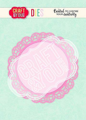 CRAFT & YOU stanssit Doily 3 CW105