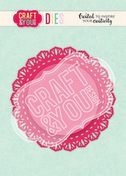 CRAFT & YOU stanssit Doily 4 CW106