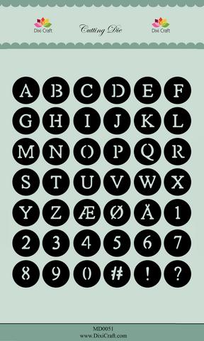 Dixi Craft stanssit ympyräaakkoset ja -numerot MD0051