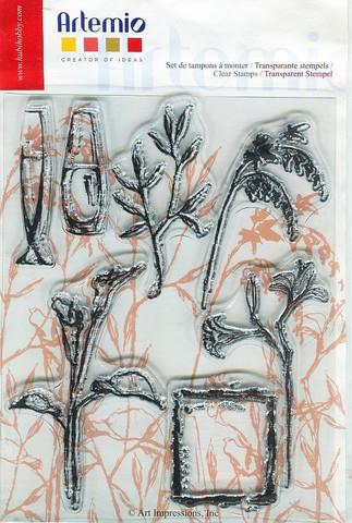 Artemio kirkas leimasetti kukat ja maljakot a5