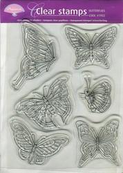 Pergamano kirkas leimasinsetti perhoset
