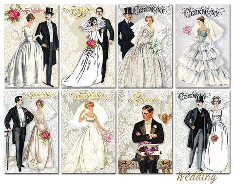 Decorer korttikuvat Wedding 24kpl
