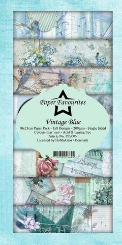 HG paperikko Vintage Blue 10x21cm