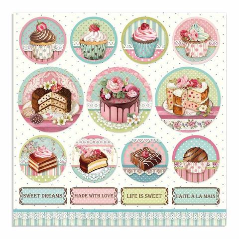 Stamperia korttikuvat Sweety Mini Cake Rounds 12x12