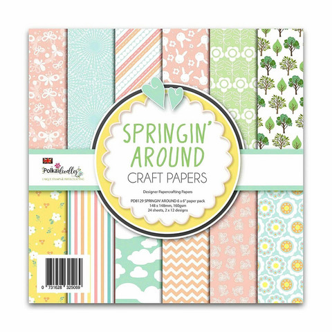 Polkadoodles paperikko Springin' Around 6x6