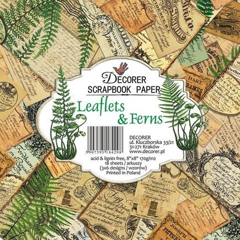 Decorer paperikko Leaflets & Ferns 8x8