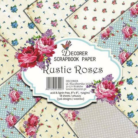 Decorer paperikko Rustic Roses 8x8