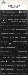 Tekstitarrat sanonnat musta-valkoinen 2637 JK Primeco