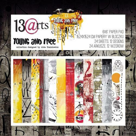 13arts paperikko Young and Free 6x6
