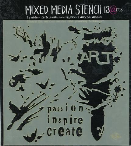 13arts mixed media sabluuna - Art Brush 14,9x14,9cm