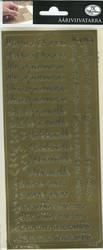 Ääriviivatarrat Erilaisia tekstitarrroja kulta JK Primeco 9736