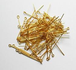 Korupiikit lenkkipäällä kulta 30mm 100kpl
