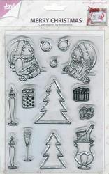Joy Crafts kirkas leimasinsetti Merry Christmas