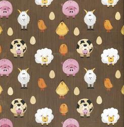 Karen Foster skräppäyspaperi Farm Animals 12x12