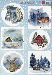 Marianne Design korttikuvat Nordic Christmas a4