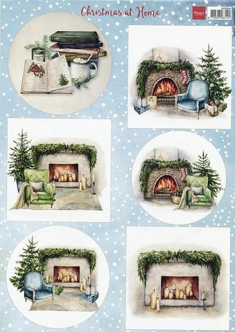 Marianne Design korttikuvat Christmas at Home a4