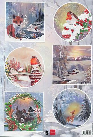 Marianne Design korttikuvat talvieläimiä EWK1286 a4