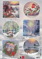 Marianne Design korttikuvat talvieläimiä EWK1287 a4