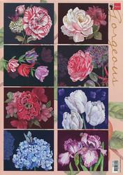 Marianne Design korttikuvat upeat kukat Gorgeous a4 EWK1285