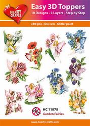 Hearty Crafts stanssatut 3d-kuvat Garden Fairies