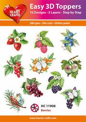 Hearty Crafts stanssatut 3d-kuvat Berries