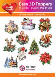 Hearty Crafts stanssatut 3d-kuvat Christmas