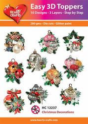 Hearty Crafts stanssatut 3d-kuvat Christmas Decorations
