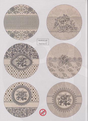 Helmiäishohtoiset korttikuvat foliolla STANSSATTU nr31