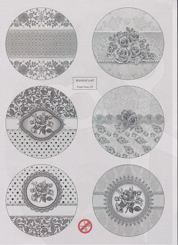 Helmiäishohtoiset korttikuvat foliolla STANSSATTU nr29