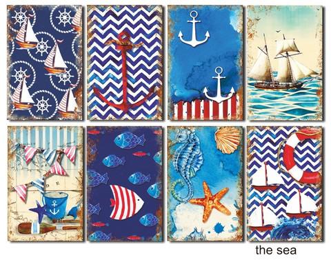 Decorer korttikuvat The Sea 24kpl