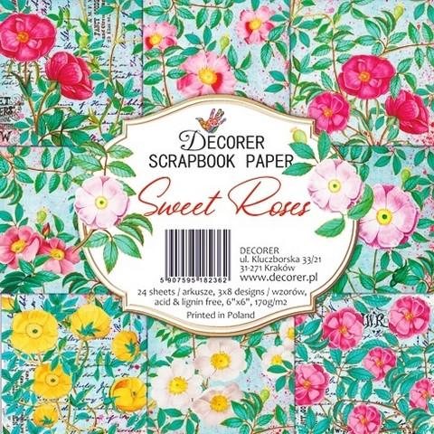 Decorer paperikko Sweet Roses 6x6