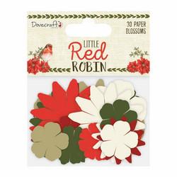 Paperikukat joulumix Little Red Robin Dovecraft 30kpl