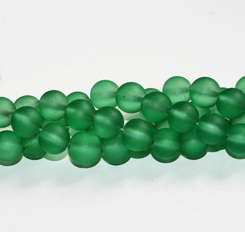 Huurrelasihelmet vihreä Emerald 10mm 85kpl
