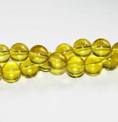 Lasihelmet pyöreä keltainen 14mm 62kpl