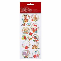 Tarrat Create Christmas - Folk Wreaths Docrafts