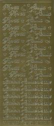 Ääriviivatarrat Hyvää Joulua ja Lämmin Joulutervehdys kulta 1651
