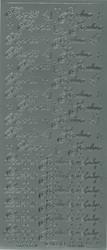 Ääriviivatarrat Hyvää Joulua ja Lämmin Joulutervehdys hopea 1651