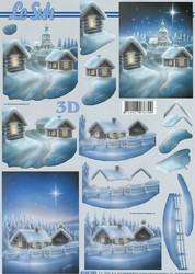 Lesuh 3d-kuva sininen talvimaisema a4 4169.295