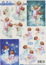 Lesuh 3d-kuva enkelit pilvellä a4 4169.535